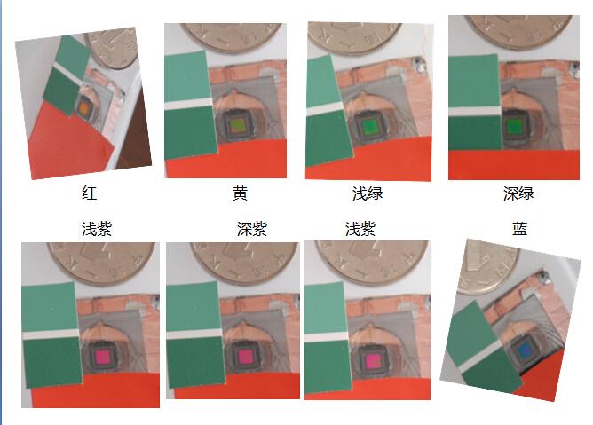 元色科技反光式单像素成功实现多种颜色